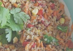 Bright & happy quinoa salad
