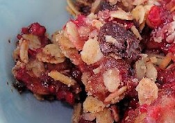 Chocolate berry apple crisp
