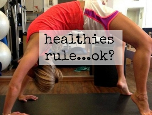 What's your take on 'healthies?'