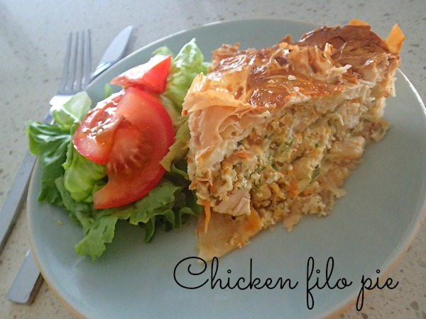 chicken filo pie