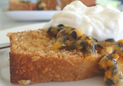 Recipe makeover - low fat passionfruit and banana cake