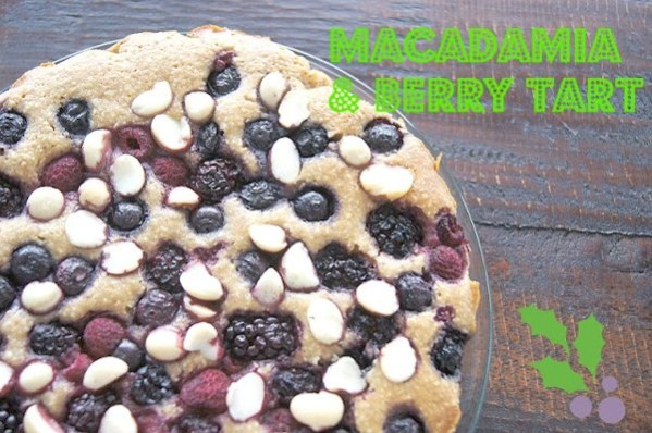 macadamia and berry tart