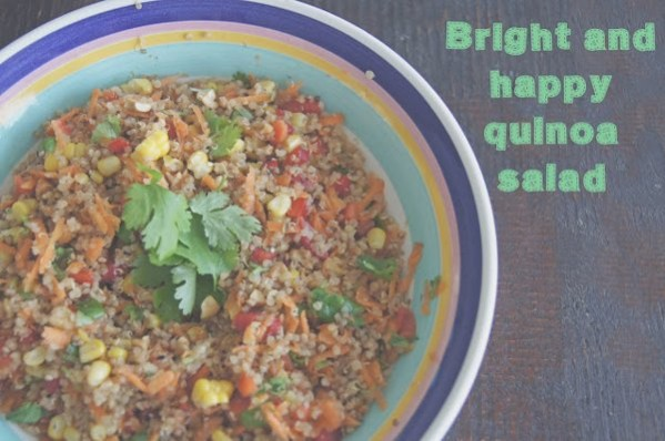 bright and happy quinoa salad
