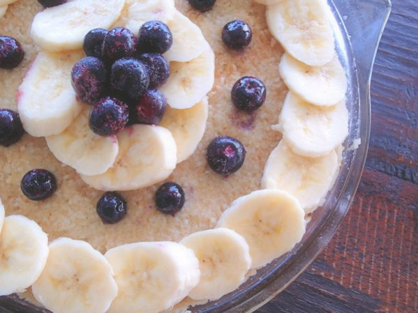 raw banana pie