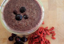 Choc berry superfood smoothie