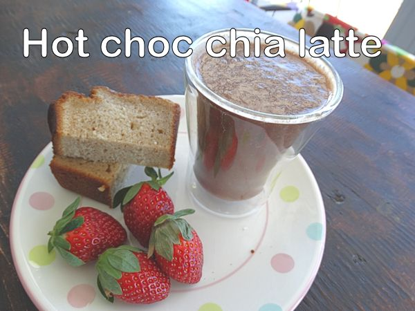 hot choc chia latte