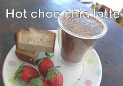 Healthy hot chia choc latte