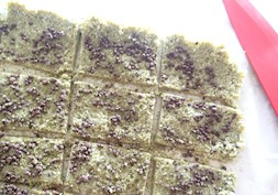 Green tea coconut bars