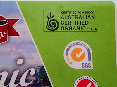 certified organic eggs label