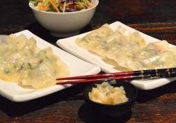 Fresh Salad and Chicken Dumplings
