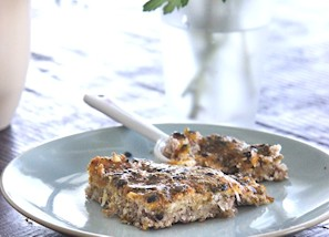 Passionfruit slice with chia seeds
