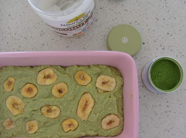DSC 0484 599x446 - Gluten Free Matcha Banana Bread + How to Choose an Organic Matcha Powder