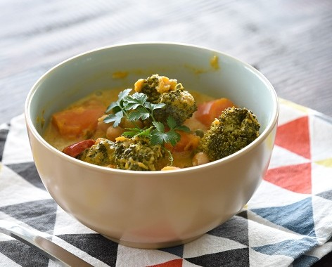 Vegetable and Chickpea Coconut Curry