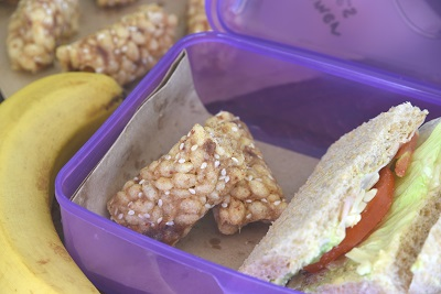 Low Sugar Rice Puff Bars - Lunch Box Snack