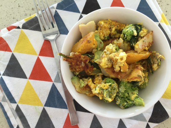 vegetable and turmeric breakfast bowl