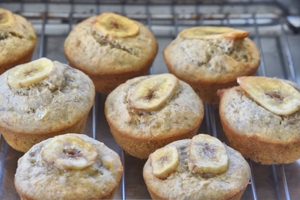 bananamuffins2 599x400 - Brilliant Banana Muffins (that are gluten and dairy free)