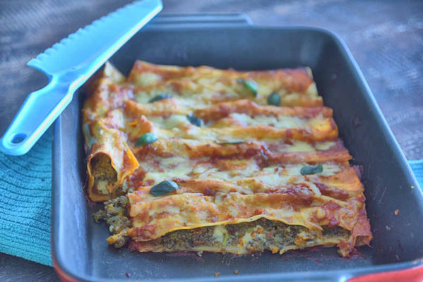 cannelloni2 599x400 - Beef and Vegetable Cannelloni with Feta Recipe
