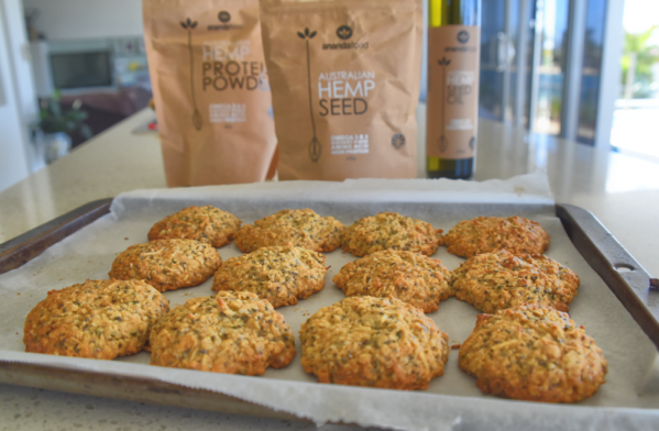 hemp seed and white chocolate cookies