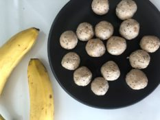banana cake bliss balls