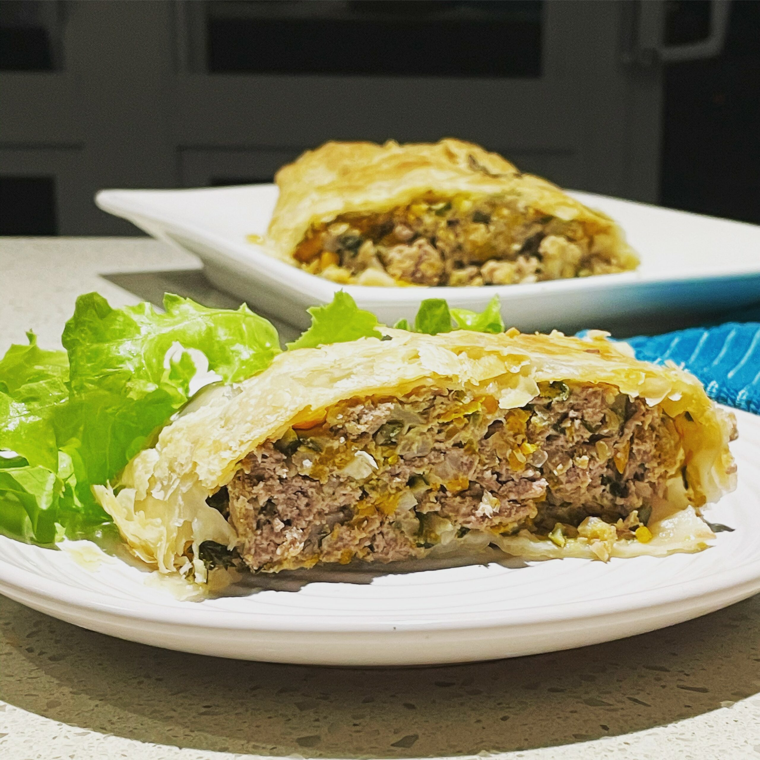 beef wellington scaled - Healthy Beef Mince Wellington - Healthy Family Meal