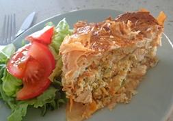 Chicken filo pie