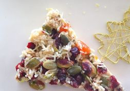Raw white christmas bark