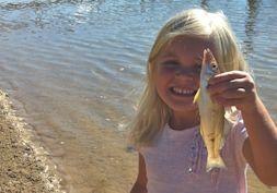 Fishing basics with kids