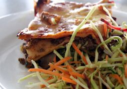 Healthy wholefood lasagna