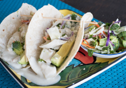 Grilled Fish Tacos With Lime Greek Yoghurt