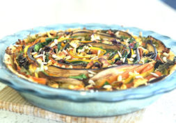 roast vegetable tart